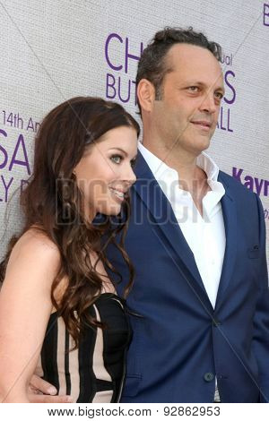LOS ANGELES - JUN 6:  Kyla Weber, Vince Vaughn at the 14th Annual Chrysalis Butterfly Ball at the Private Residence on June 6, 2015 in Los Angeles, CA