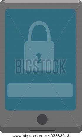 Vector Illustration. Smartphone With Locked Screen.