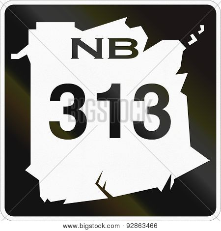 New Brunswick Highway Marker 313