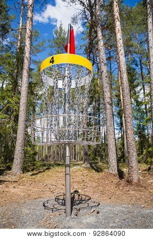 Disc Golf Hole In The Woods