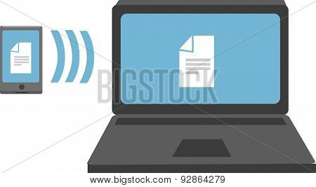 Vector Illustration Of File Transfer.