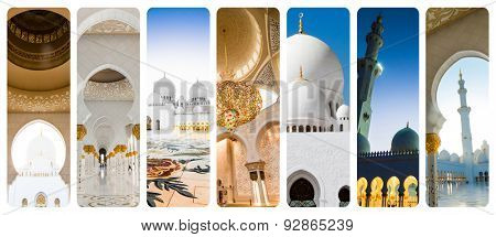 collage Mosque Sheikh Zayed in Abu Dhabi  United Arab Emirates
