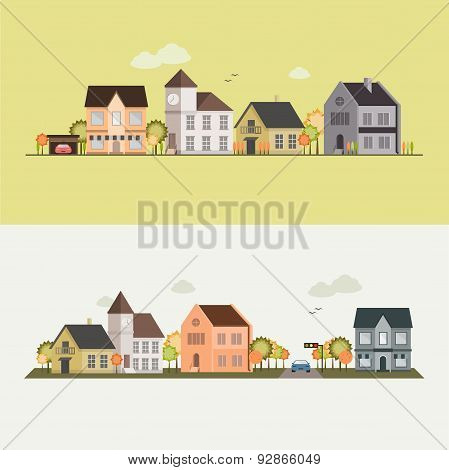 Country side, house, field