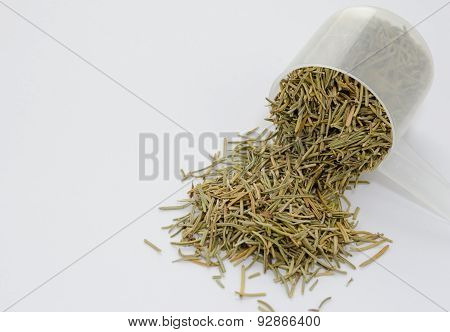 Dried Rosemary Herb White Background