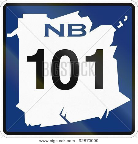 New Brunswick Highway Marker 101