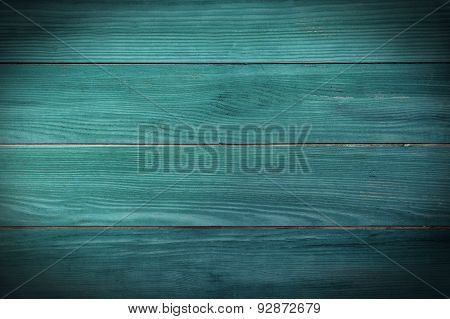 Painted Teal Planks