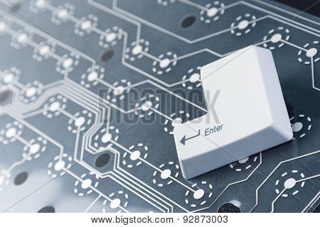 Enter computer key button