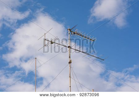 Television Antenna On The Roof