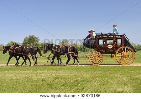 Stagecoach at a Historical Rendezvous