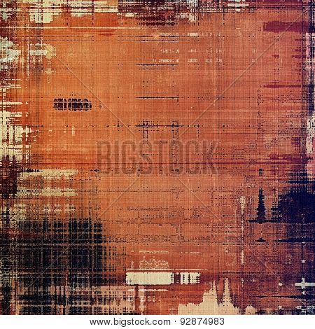 Textured old pattern as background. With different color patterns: yellow (beige); brown; black; red (orange)