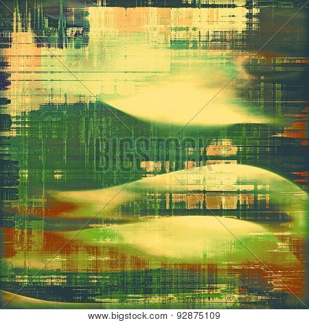 Grunge aging texture, art background. With different color patterns: yellow (beige); brown; green; red (orange)