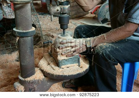 Asian Worker, Wood Workshop, Coconut Product