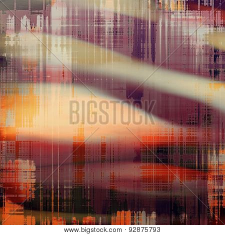 Vintage aged texture, colorful grunge background with space for text or image. With different color patterns: yellow (beige); gray; red (orange); purple (violet)