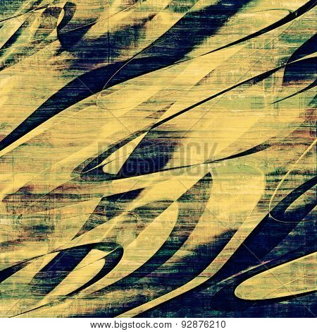 Old abstract grunge background, aged retro texture. With different color patterns: yellow (beige); brown; blue; green