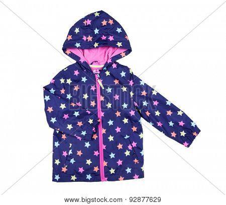 childrens jacket isolated on white