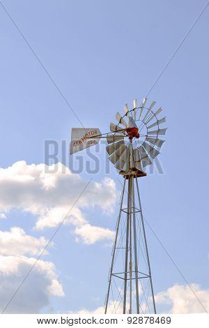 Windmill in Country Farmland