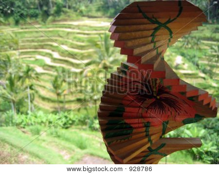 Wind Ornament And Rice Terrace