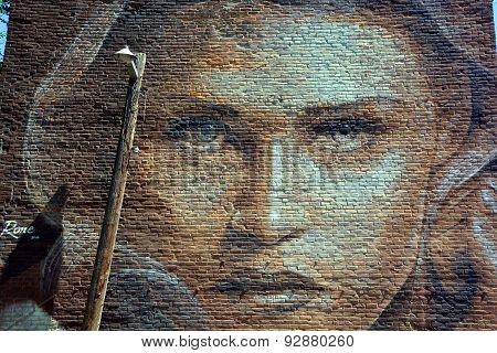 Street art woman
