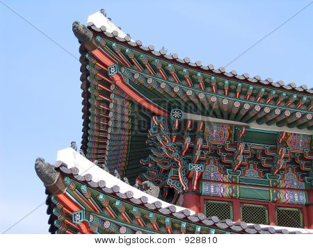 Oriental Building Roof And Blue Sky
