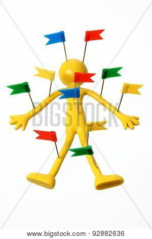 Miniature Figure With Tags