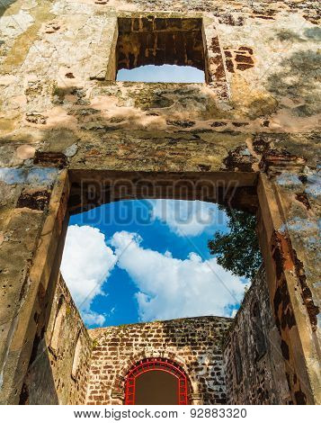 Ruin Of St. Paul's Church In Melaka, Malacca. The Church Is Listed As Unesco World Heritage