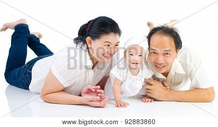Asian family portrait.