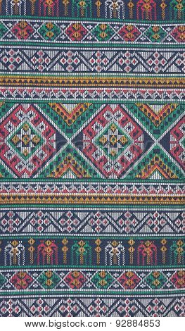 Patterned Sarongs Sold In The Market Thailand.