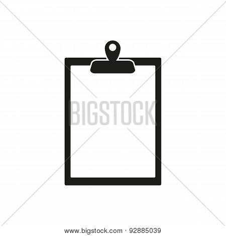 The Clipboard Icon. Paperwork Symbol. Flat