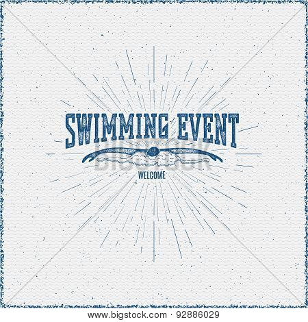 Swimming badges logos and labels for any use