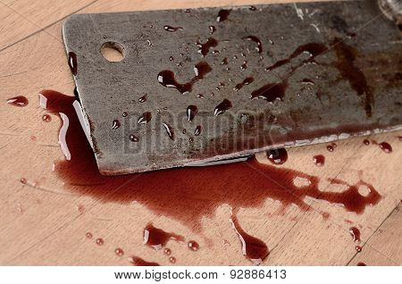 Old Rusty Meat Cleaver