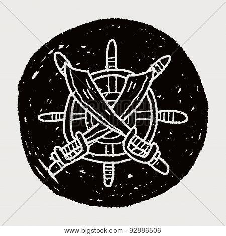 Knife And Rudder Doodle