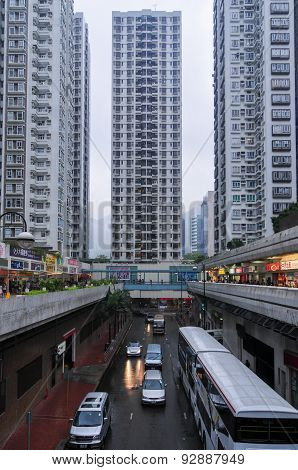 Sha Tin District In Hong Kong