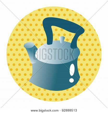 Kitchenware Tea Pot Theme Elements