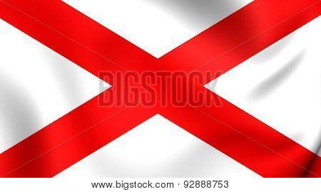 Flag Of The Alabama, Usa.