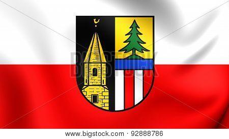 Flag Of The Altmunster, Austria.