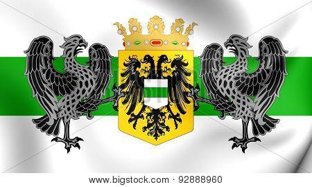 Flag Of The Groningen City, Netherlands.