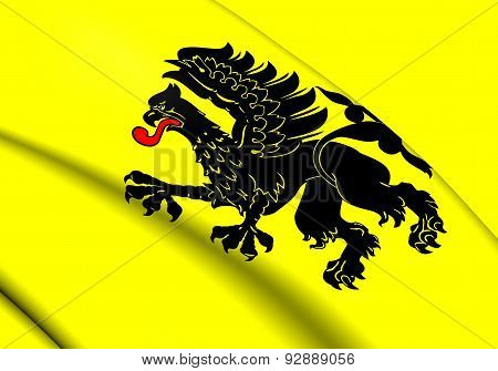 Flag Of Pomeranian Voivodeship, Poland.