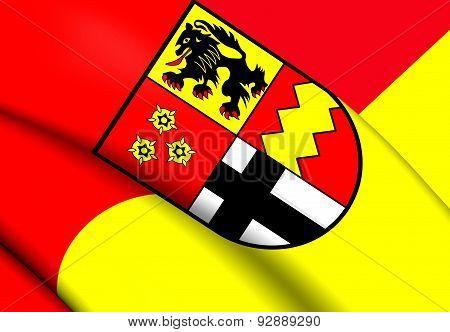 Flag Of Euskirchen, Germany.