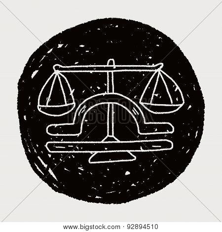 Libra Constellation Doodle