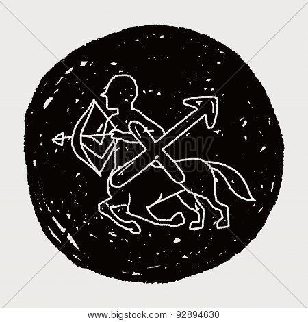 Sagittariu Constellation Doodle