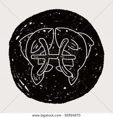 Pisces Constellation Doodle