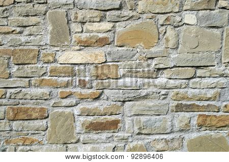 New Stone Cladding Plates On The Wall