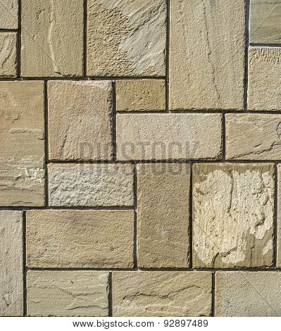 Stone Cladding Plates On The Wall