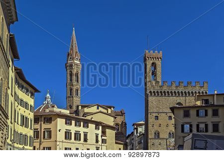 Belltower Of The Badia Fiorentina, Florence, Italy