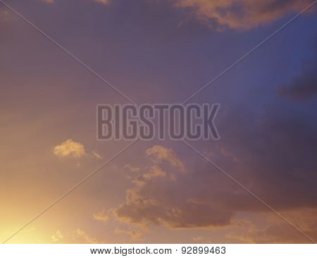 scenic fiery sky natural background