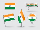 picture of indian flag  - Set of Indian pin - JPG