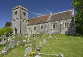 stock photo of west village  - Church of the Holy Trinity West Lulworth Dorset - JPG
