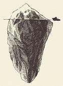 image of iceberg  - Iceberg vintage engraved illustration hand drawn sketch - JPG