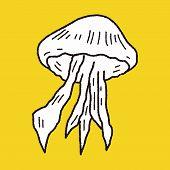 image of jellyfish  - Jellyfish Doodle - JPG