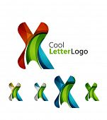 image of letter x  - Set of abstract X letter company logos - JPG